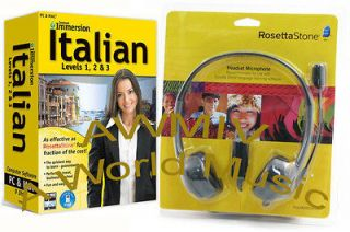 Immersion Learn ITALIAN Language Software with Rosetta Stone Headset