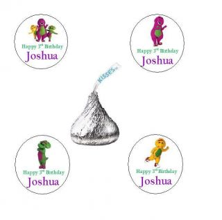 AND FRIENDS PERSONALISED CUSTOM BIRTHDAY PARTY KISS FAVORS LABELS