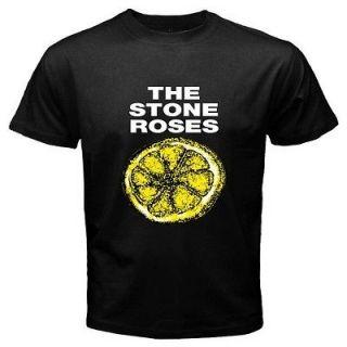 New The Stone Roses   Lemon Alternative Punk Retro Mens Black T Shirt