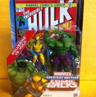 Marvel Universe Comic Packs (Set Of 5) Wolverine Vs. The Hulk, And