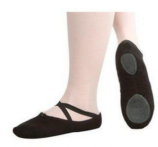 New Childrens Boys Girls Black Canvas Ballet Dance Slippers Gymnastics