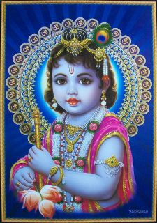 Baby Krishna Lord Krishna   Beautiful Poster   21x31 (#BK01)