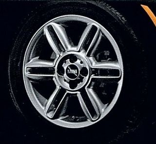 MINI Cooper 16 R119 6 Star Twin Spoke Silver Rim Wheel with Hubcap