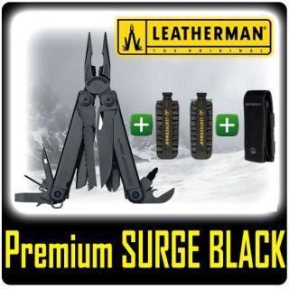 LEATHERMAN PREMIUM SURGE BLACK MULTI TOOL + PREMIUM MOLLE SHEATH + 42