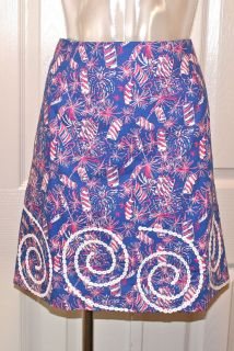 lilly pulitzer roslyn skirt cherry bomb size 0 nwt