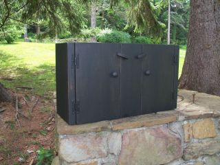 primitive handcrafted wall cupboard millcreek  127 95