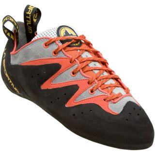 New La Sportiva Scorpion Rock Climbing Shoes Orange/Grey Size 34, 3.5