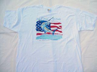Bass Pro Shops Marlin American Flag world wide sportsman tee big mens