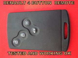 renault laguna 3 card 4 button remote control alarm key from united