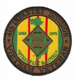 4th infantry division vietnam veteran patch  5
