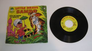 African Black Americana Little Brave Sambo 45 RPM Record & Original
