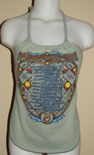 String Cheese Incident 2002 Concert Tour Shirt Reconstructed Halter