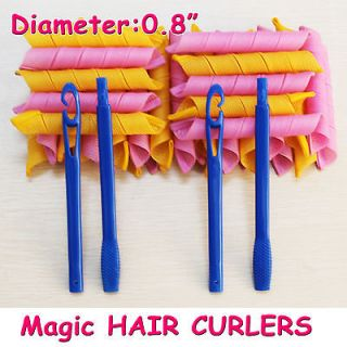 large Hair Curlers Curlformers Spiral Ringlets Perm Leverage rollers
