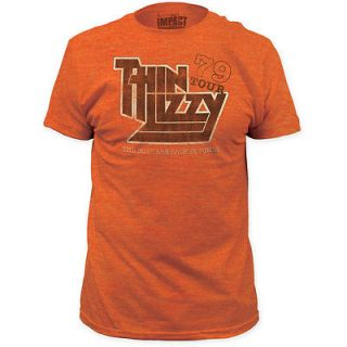 NEW Thin Lizzy 1979 World Tour Vintage Faded Look Band Name Logo T