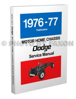 1976 1977 Dodge Motorhome Repair Shop Manual Motor Home M300 M400 M500