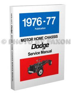 1976 1977 Dodge Motorhome Repair Shop Manual Motor Home M300 M400 M500