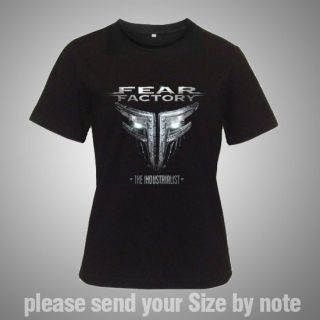 FACTORY logo THE INDUSTRIALIST metal band Womens Black T Shirt new