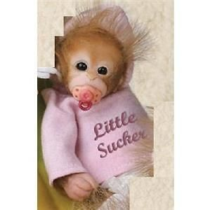 ashton drake little sucker monkey baby doll new time left