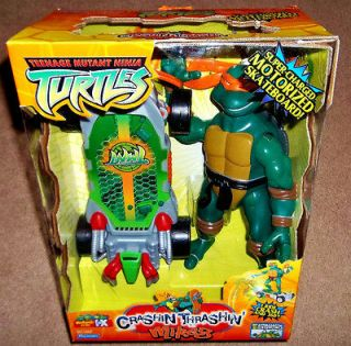 New TMNT Michel Angelo w/ MOTORIZED SKATEBOARD ~ Teenage Mutant Ninja