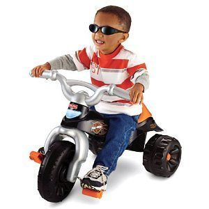 Harley Davidson Tough Trike Motorcycle Tricycle Kids Outdoor Fisher