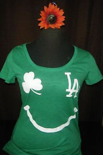 NWT VICTORIAS SECRET PINK LOS ANGELES DODGERS GOOD LUCK CHARM T