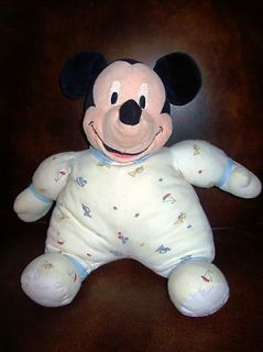 baby MICKEY MOUSE stuffed plush vintage rattle jingles 14