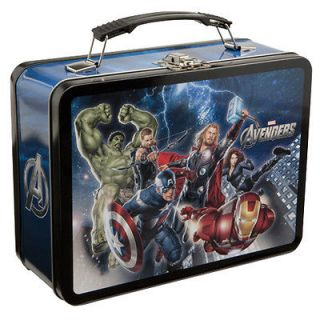26170 Marvels The Avengers Large Tin Tote Lunchboxes Kids Collections