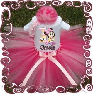 MINNIE MOUSE ~BABY GIRL TUTU DRESS~CUSTOM BOUTIQUE SET~,BIRTHDAY