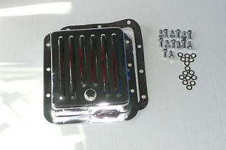 Chrome Ford C 4 Transmission Pan Case Fill Style Kit W/ Bolts & Gasket