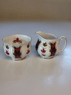 Royal Adderley MAPLE LEAF TARTAN Mini Creamer a 2 1/8 Mini Sugar