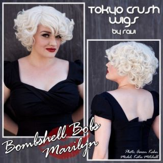 Marilyn Monroe Madonna Inspired Bombshell Blonde Bob Halloween Party