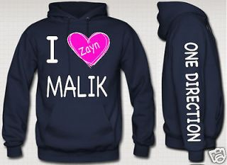 zayn malik HOODIE with pink heart niall zayn liam louis one directioN