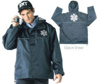 emt ems paramedic hooded storm jacket w star of life xl