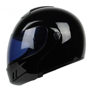Gloss Black Flip Up Modular Full Face Motorcycle Helmet DOT APPROVED M