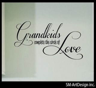 CIRCLE LOVE CHILDREN VINYL DECAL WALL FAMILY QUOTES STICKER #sxd67