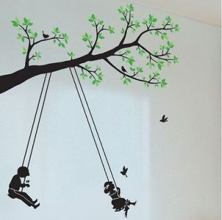 Newly listed Kids Swing Tree Butterfly Mural Art Removable Decals Wall