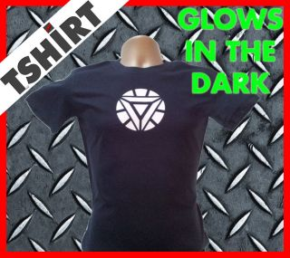 Iron Man Arc Reactor T Shirt (Triangle Arc Reactor Glows in the Dark)