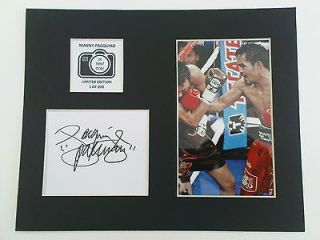 Limited Edition Manny Pacquiao Boxing Signed Mount Display PACMAN