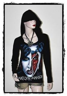 marilyn manson punk rock diy light weight hoodie top