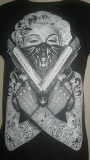 Marilyn Monroe rhinestone shirt tattoo guns s xl 2xl