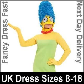 Adult Licensed The Simpsons Marge Fancy Dress Costume Ladies Womens