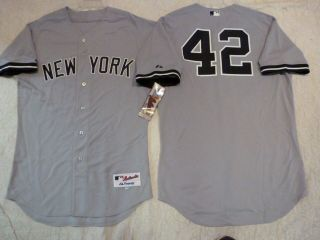 MAJESTIC New York Yankees MARIANO RIVERA Authentic GAME Jersey 48