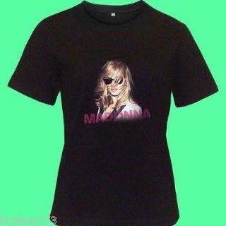 MADONNA MDNA World TOUR 2012 Men Women Black Tee T   Shirt S M L XL
