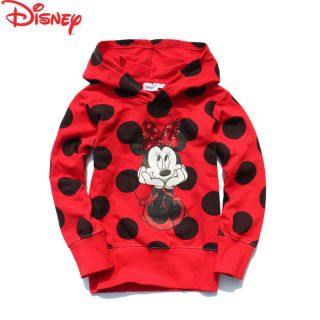 NWT DISNEY Minnie Mouse *Sequin Bow* Hoodie Sweatshirt Top Size 2 9