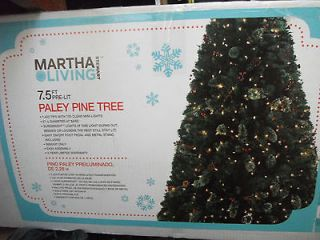 Martha Stewart Living 7.5 ft Christmas Tree w/ lights Paley Pine Tree