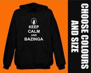the BIG BANG THEORY keep calm and BAZINGA Hoodie SHELDON BNWT hoody