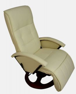 Creme White Office TV Home Theater Recliner Massage Chair 7919   NEW