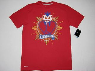 Nike Mens Manny Pacquiao Pac Man Heart T Shirt Red NWT Dry Fit 467757