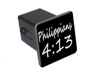 Philippians 4 13   Christian Bible Verse 2 Tow Trailer Hitch Cover