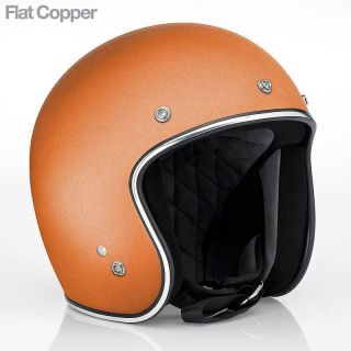 Biltwell Hustler DOT Open Face Helmet   Flat Copper   (BNIB) All Sizes
